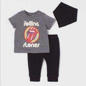 NWT H&M Rolling Stones toddler set 🎶